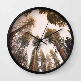 Sequoia Sunset Wall Clock
