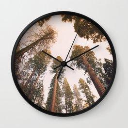Sequoia Sunset Wall Clock