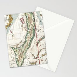 Vintage Map of Cuba and Jamaica (1763) Stationery Cards