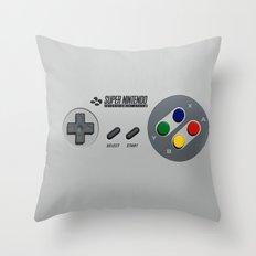 CLASSIC VINTAGE RETRO NINTENDO CONTROLLER Throw Pillow