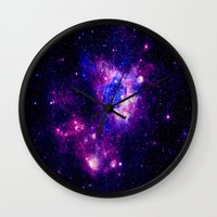 nebula Wall Clocks featuring nebulA. by 2sweet4words Designs