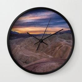 Death_Valley 5520 - Zabriskie_Point Sunrise Wall Clock
