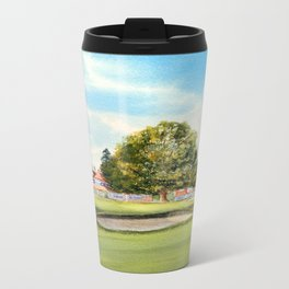Sunningdale Golf Course 18th Green Metal Travel Mug