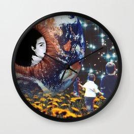 Humming Fields Wall Clock
