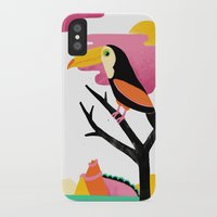 toucan iPhone & iPod Cases featuring Toucan by Vasilisa Wise
