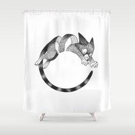 Cat Loop Shower Curtain