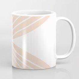 Soft Peach Minimal Fall Leaf Coffee Mug
