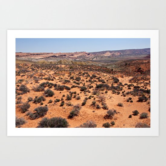 Colorful Salt Valley at Arches National Park Art Print