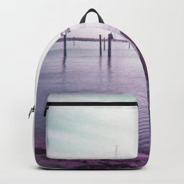 Lonely Girl on the Shoreline - Film Photograph Backpack