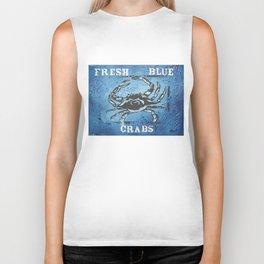 Fresh Blue Crabs Biker Tank