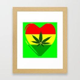 Rasta Heart Framed Art Print