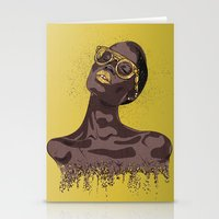 gold glitter Stationery Cards featuring Glitter by MessyDesk