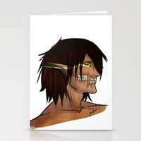 attack on titan Stationery Cards featuring Titan Form by JemyArt