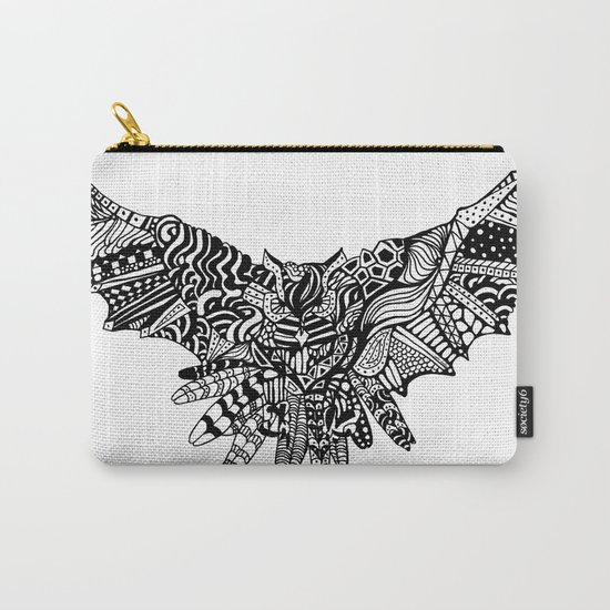 Dragon Owl (BW) Carry-All Pouch