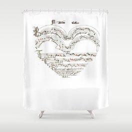 Chanson L'Amour Vintage Romance Shower Curtain