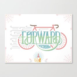 Forward Wisconsin Canvas Print