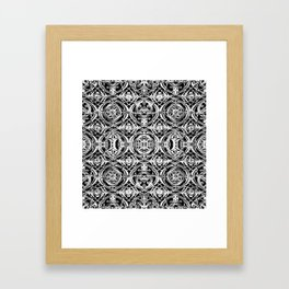 Ironwork Black and White Framed Art Print