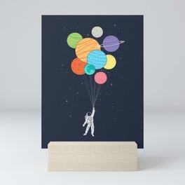 Planet Balloons Mini Art Print