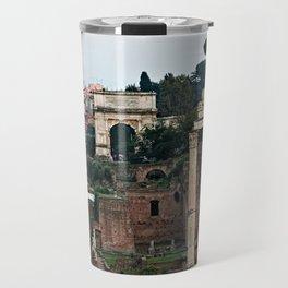 Monuments Roman Forum Colosseum of Rome Temple Italy Travel Mug