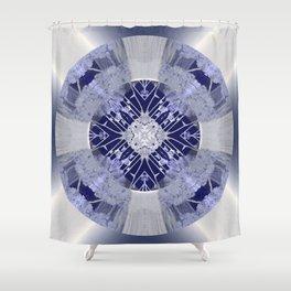 Microchip Mandala in Purple Shower Curtain