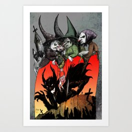 Witches meeting Art Print