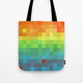 Pixel Rainbow Tote Bag