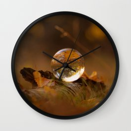 Colors of autumn in the deciduous forest Wall Clock