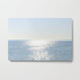 Electric Blue Ocean Metal Print
