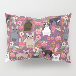 French Bulldog florals mixed coat colors dog breed pet must have gifts frenchies Pillow Sham