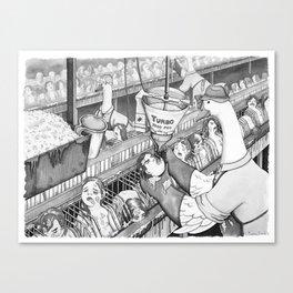 Foie Gras Production Canvas Print