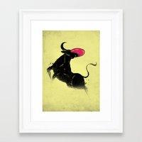 bulldog Framed Art Prints featuring BULLdog by Anwar Rafiee