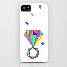 Shine Colorfully diamonds jewelry illustration fashion gem colorful accessory princess girly iPhone Case