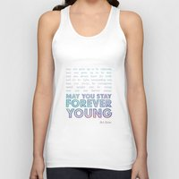 forever young Tank Tops featuring Forever Young by alice donovan//graphic design