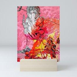 Ganesh vs Kali Mini Art Print