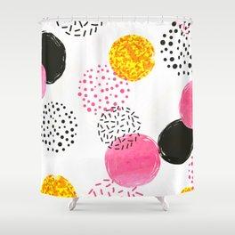 Blush Pink Collection, Confetti Mug Shower Curtain