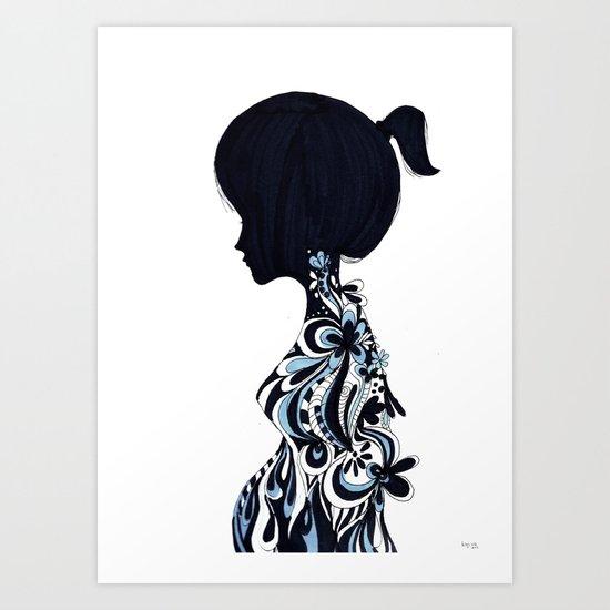 living lady Art Print
