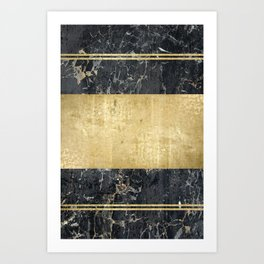 marble in gOld Art Print