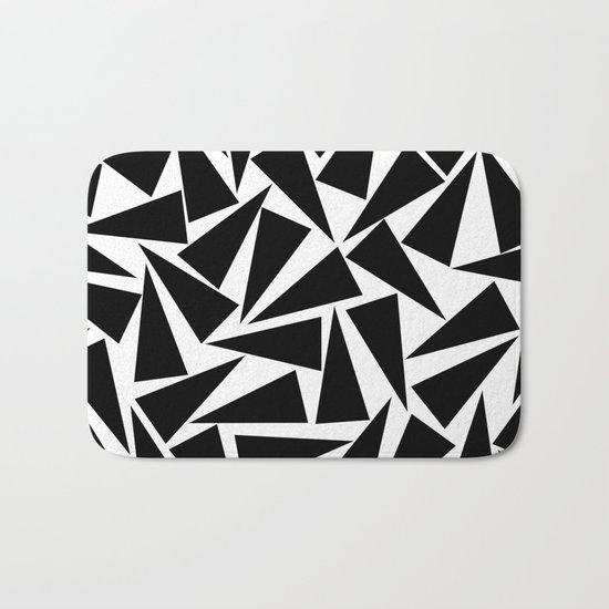 black triangle pattern Bath Mat