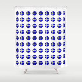 flag of sweden 3 Swedish,Sverige,Swede,Stockholm,Scandinavia,viking,bergman, strindberg Shower Curtain