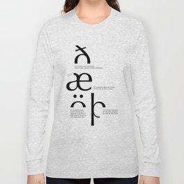 Odd letters Long Sleeve T-shirt