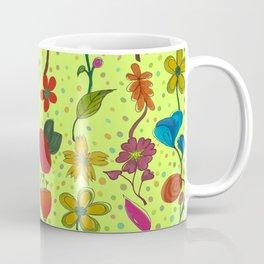 Fiona's dotty flowerbed Coffee Mug