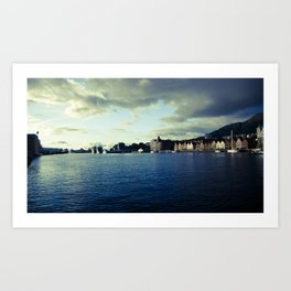 BERGEN CITY, NORWAY Art Print