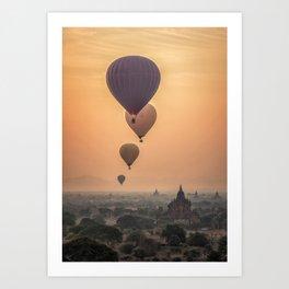adventures in Asia Art Print