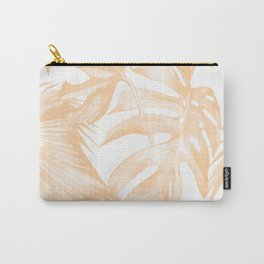 Island Vacation Hibiscus Palm Coral Carry-All Pouch