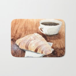 Croissant and Coffee Bath Mat