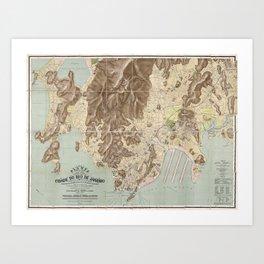 Map of Rio de Janeiro - 1910 Art Print
