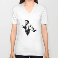mia wallace V-neck T-shirts featuring Mia Wallace by El Kane