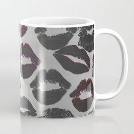 Metallic Lip Prints Lipstick Marks Coffee Mug