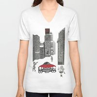 sin city V-neck T-shirts featuring sin city by Carmit Levy