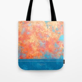 Summer Rain - Original Abstract Art by Vinn Wong Tote Bag